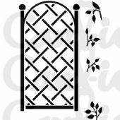 Card-io Combinations A7 Clear Stamp Set - Tall Trellis - CDCCSTTAL-02